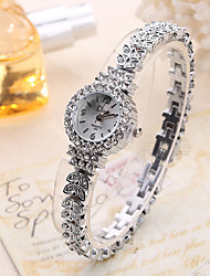 cheap -Women's Wrist Watch Creative / Cool Alloy Band Charm / Luxury / Casual Silver / Rose Gold