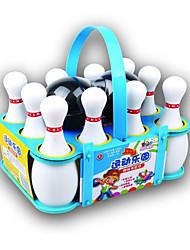 baratos -Bolas Brinquedos de Boliche Jogos de boliche Portátil Plásticos Para Meninos Dom