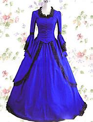 Une Pièce/Robes Doux Lolita Cosplay Vêtrements Lolita Rétro Mancheron Manches Longues Ras du Sol Robe Pour Autre