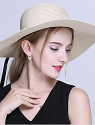 cheap -Women's Foldable Straw Sun Hats with Bowknot Holidays Wide Brim Hats