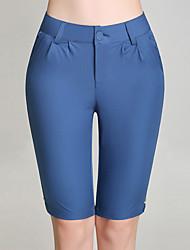 levne -Dámské Větší velikosti Bavlna Upnuté Štíhlý Kalhoty - Flitry Rozparek, Jednobarevné High Rise
