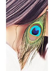 cheap -Drop Earrings Wings Feather Africa Bohemian Vintage Jewelry Peacock  Long Beach Travel