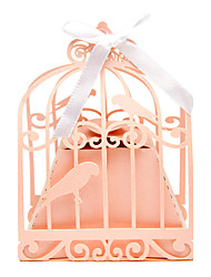 cheap -50pcs birdcage wedding favor box love birds candy box wedding favors and gifts
