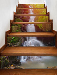 cheap -Landscape Wall Stickers 3D Wall Stickers Waterproof, Vinyl Home Decoration Wall Decal Floor