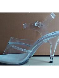 cheap -Women's Shoes PVC / Glitter Summer / Fall Heels Stiletto Heel / Crystal Heel Rhinestone / Crystal for White
