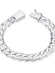 cheap -Men's Chain Bracelet - Stainless Steel, Silver Plated Tattoo Style, Vintage, Bohemian Bracelet Silver For Birthday / Gift / Sports