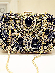 Women Bags Silk Evening Bag Bead for Event/Party Party & Evening Club All Seasons Black