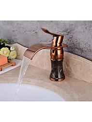 Set de centre Soupape céramique Or rose , Robinet lavabo