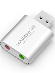Hagibis USB External Sound Card Notebook Desktop Computer Independent External Headset Converter Professional Free Drive