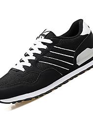 economico -Da uomo scarpe da ginnastica Comoda PU (Poliuretano) Primavera Autunno Casual Piatto Nero Grigio Blu Piatto