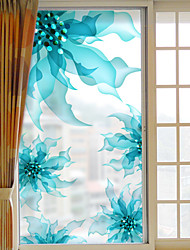 Window Film Window Decals Style Creative Flowers Dull Polish PVC Window Film - (60 x 116)cm