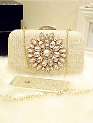 preiswerte -Damen Taschen PU Abendtasche Glitter für Veranstaltung / Fest Party & Festivität Klub Ganzjährig Champagner
