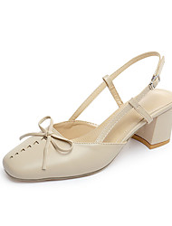Women's Sandals Comfort Vintage Pump All Match Fashion Spring Summer Casual Outdoor Bowknot Buckle Chunky Heel