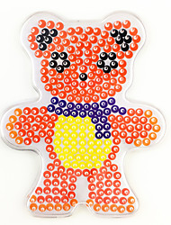 cheap -1PCS 5MM Fuse Beads Clear Template Pegboard Stencil Teddy Bear Shape Hama Perler Beads Pegboard Kid DIY Educational Craft Jigsaw Toy Card