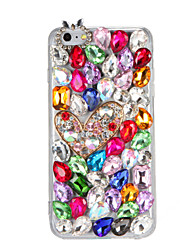 abordables -Funda Para iPhone 7 / iPhone 7 Plus / iPhone 6s Plus Diamantes Sintéticos / Manualidades Funda Trasera Dibujo 3D / Brillante Dura ordenador personal para iPhone 7 Plus / iPhone 7 / iPhone 6s Plus