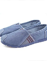 Men's Shoes Fabric Spring Fall Comfort Light Soles Loafers & Slip-Ons Walking Shoes For Casual Outdoor Gray Navy Blue