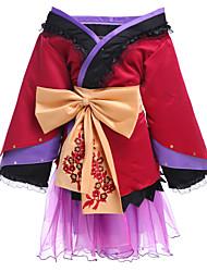 Inspiriert von Vocaloid Megurine Luka Video Spiel Cosplay Kostüme Cosplay Kostüme Kimonoo Patchwork LangarmRock Kopfbedeckung Gürtel