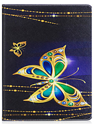 cheap -Case For IPad 2 3 4 Air Air 2 Pro 9.7'' Case Cover Butterfly Pattern PU Material Three Fold Flat Computer Shell Phone Case