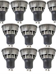billiga -10pcs 3W 320lm GU10 LED-spotlights 1 LED-pärlor COB Bimbar Varmvit / Kallvit 110-220V