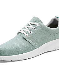 cheap -Men's Shoes Linen Spring Fall Comfort Sneakers Lace-up For Casual White Black Light Green