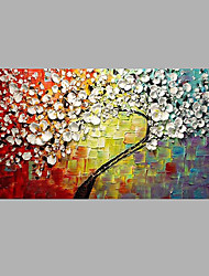 Dipinta a mano Floreale/Botanical Moderno/Contemporaneo Un Pannello Tela Hang-Dipinto ad olio For Decorazioni per la casa