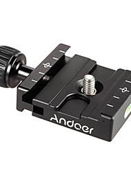 cheap -Andoer® QR-50 Quick Release Plate Clamp Adapter with Built-in Bubble Level for Arca Swiss RRS Wimberley