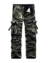 cheap -Men's Mid Rise Inelastic Straight Loose Wide Leg Chinos Pants, Active Chinoiserie Camouflage Winter Spring Fall