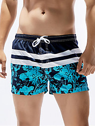 cheap -Men's Sporty Bottoms - Floral Board Shorts / 1 Piece / Super Sexy