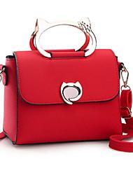 economico -Donna Sacchetti PU (Poliuretano) Tote per Casual Per tutte le stagioni Nero Rosso Rosa Beige Viola
