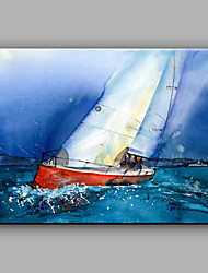 cheap -Modern Hand-Painted Landscape Sailing One Panel Canvas Oil Painting For Home Decoration