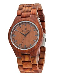 cheap -Men's Wood Watch Japanese Quartz Wooden Wood Band Luxury Elegant Brown