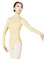 Ballet Leotards Women's Training Polyester 1 Piece Long Sleeve High Leotard