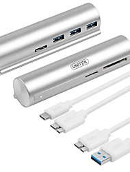 Unitek Y-3094W USB 3.0 Type-C to USB 3.0 3Ports Super Speed Hub TF/SD Card Slot