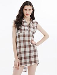cheap -Women's Cute Shift Dress - Plaid / Check