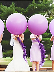6Pcs / 1 Group Of 36 Inch 25k Round Large Flat Ball/Wedding Decoration Holiday Big Balloon/Valentine's Balloon