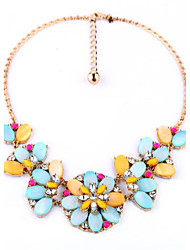 Women's Chain Necklaces Statement Necklaces Flower Geometric Alloy Unique Design Flower Style Pendant Flowers Floral Luxury Jewelry For