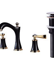 cheap -Faucet Set - Widespread Oil-rubbed Bronze Widespread Two Handles Three Holes