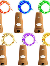cheap -6 Pack 12M(2M*6)120LED with Screwdriver A Bottle Lights Fairy String Lights Warm White White Red Yellow Blue Green Purple Pink Multi Color