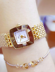 cheap -Women's Wrist Watch Quartz Water Resistant / Water Proof Creative Stainless Steel Band Analog Charm Casual Bangle Silver / Gold - Gold Silver