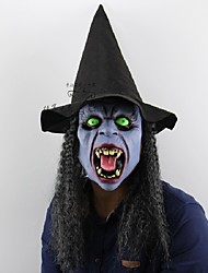 Fangs Night Witch Halloween Christmas Bar Party Ghost House Horrible Tricky People Latex Headgear Mask Dress Up Performing Props
