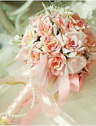 """baratos -Bouquets de Noiva Buquês Casamento Organza Cetim 9.84""""(Aprox.25cm)"""