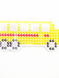 1PCS 5MM Fuse Beads Clear Template Pegboard Stencil Bus Shape Hama Perler Beads Pegboard Kid DIY Handmaking Educational Craft Toy Jigsaw Puzzle