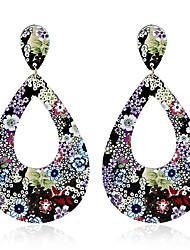 Недорогие -Жен. Серьги-слезки Серьги-кольца серьги шарика Уникальный дизайн Геометрический Мода Rock Euramerican Радужный Металлический сплав Резина
