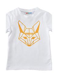 preiswerte -Jungen T-Shirt Baumwolle Sommer Kurzarm Weiß