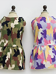 economico -Cane Vestiti Abbigliamento per cani Casual Monocolore Rosa Camouflage colore Costume Per animali domestici