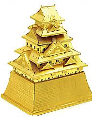 abordables -Puzzles 3D Puzzles en Métal Kit de Maquette Bâtiment Célèbre Architecture Articles d'ameublement A Faire Soi-Même Chrome Classique Unisexe