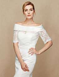 cheap -Lace / Satin Wedding / Party / Evening Women's Wrap With Lace Shrugs