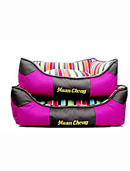 cheap -Cat Dog Bed Pet Mats & Pads Stripe Keep Warm Soft Elastic Purple Yellow Blue