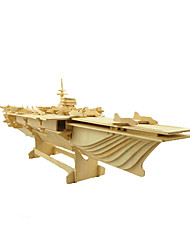 cheap -3D Puzzle / Jigsaw Puzzle / Model Building Kit Warship / Aircraft Carrier Wooden Aircraft Carrier Unisex Gift