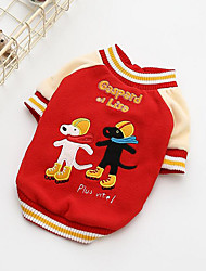 cheap -Dog Sweatshirt Dog Clothes Casual/Daily Cartoon Red Blue Costume For Pets